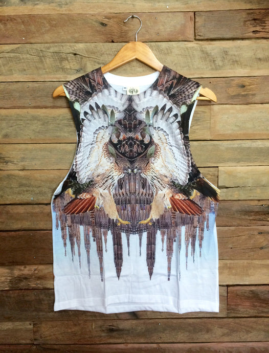 Medium Arty Singlet - Eagles and Steeples