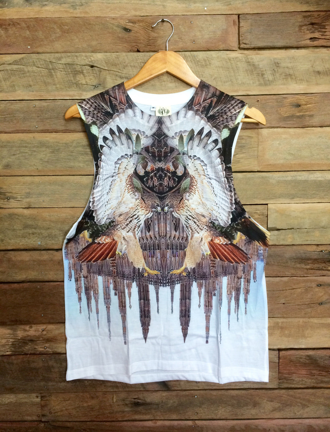 Large Arty Singlet - Eagles and Steeples