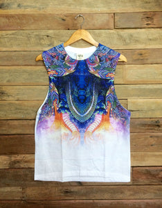 Medium Arty Singlet - Rainbow Serpent