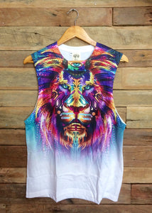 Large Arty Singlet - Wild Lion