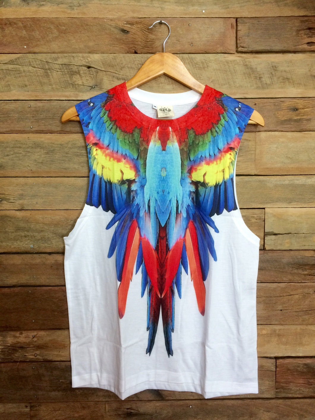 Medium Arty Singlet - Parrot in Flight