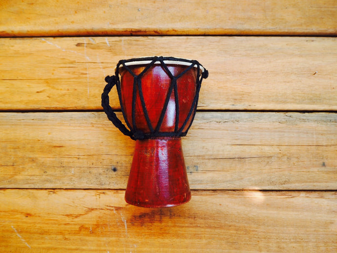Mini djembe 14 cm high 9 cm wide