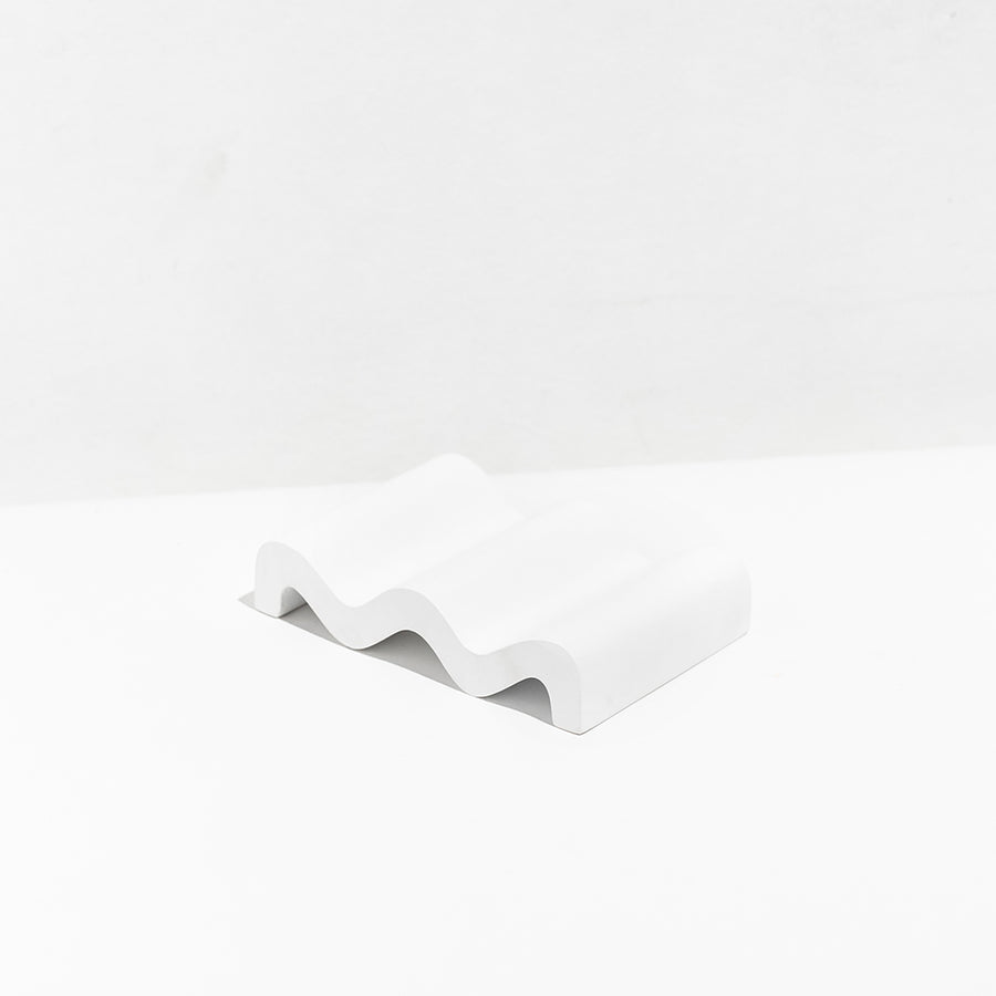 WAVE SOAP DISH - WHITE