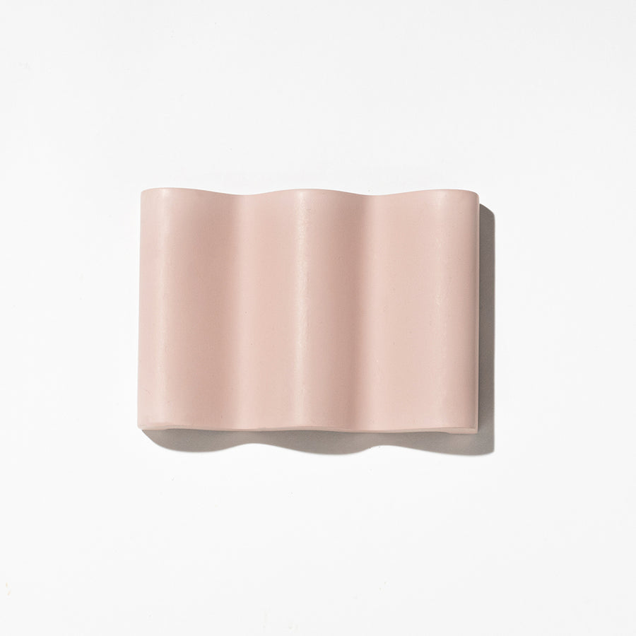WAVE SOAP DISH - DUSTY PINK