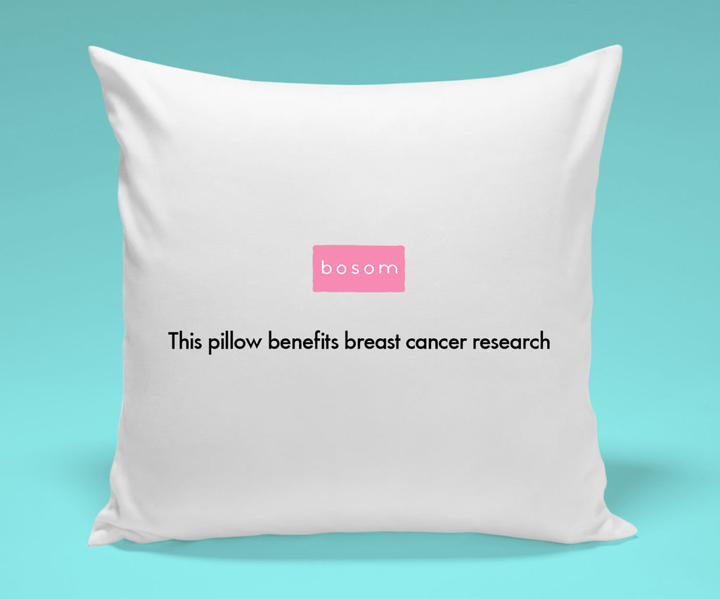 Pillow #1 - Profits will benefit Breast Cancer Research.