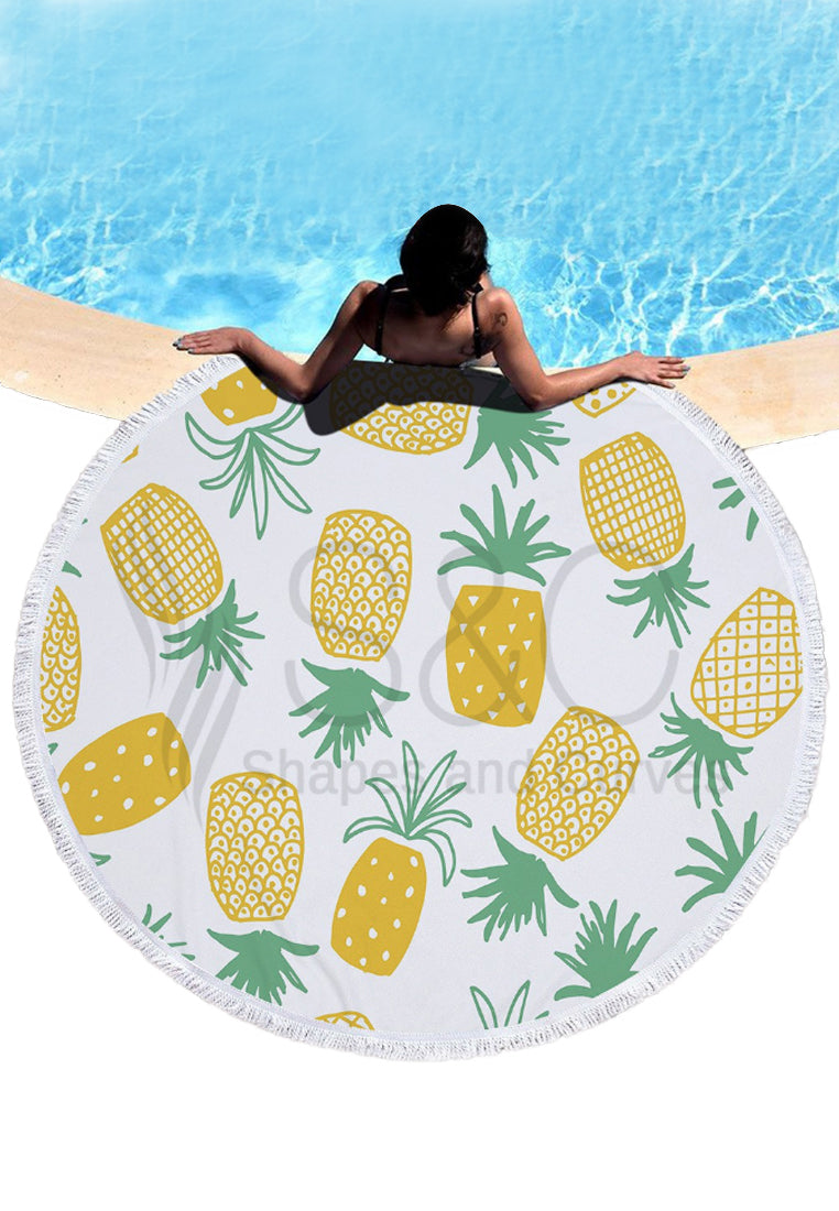 Pineapple Mandala Beach Mat