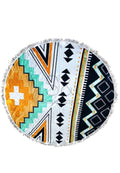TRIBAL AZTEC ROUNDIE BEACH TOWEL