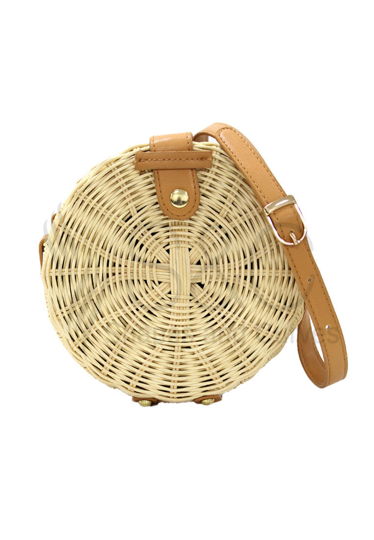 Circle Bohemia Round Straw Beach Cross Body Bag