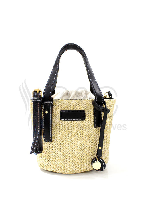 Straw Knitted Vintage Beach Sling Bag