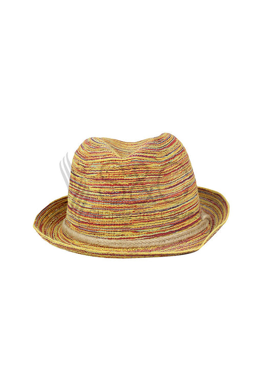 TRIBAL AZTEC FEDORA SUMMER HAT
