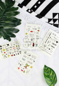 CUTE RANDOM DESIGNS TATTOO STICKER SET