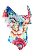 PRINTED FLORAL OFF SHOULDER ONE PIECE SWIMSUIT