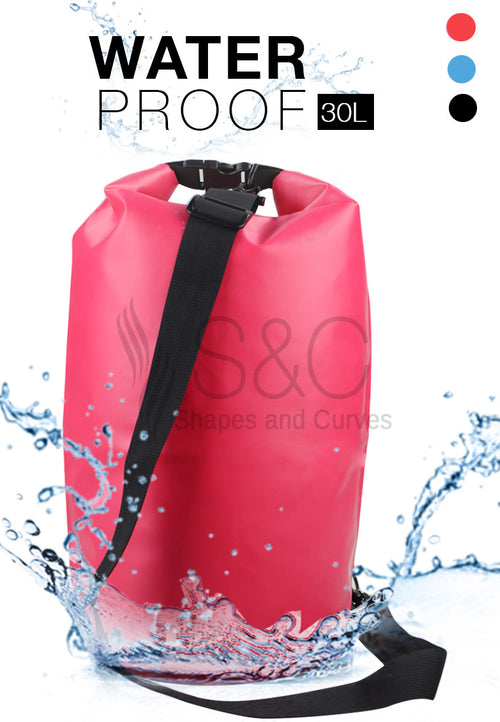 WATERPROOF DRY BAG WITH STRAPS 30L