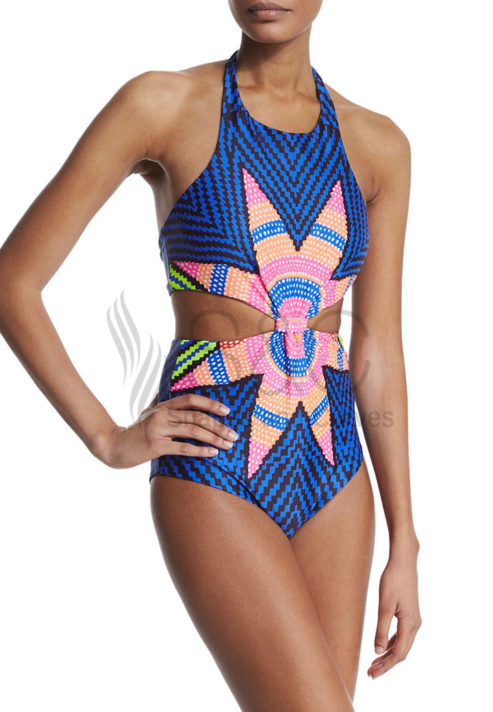 STARBASKET KNOTTED FRONT ONE PIECE SWIMWEAR