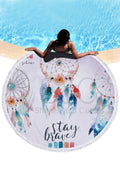 Dream Catcher Print Round Beach Mat