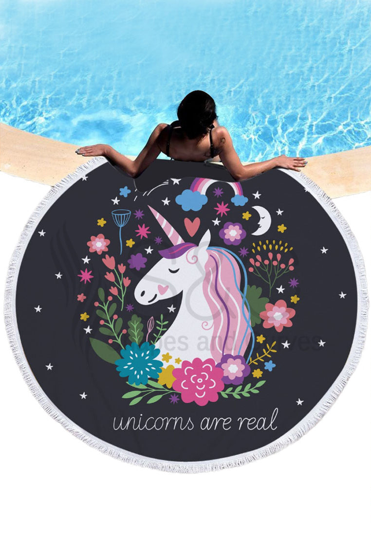 Unicorn Round Beach Mat