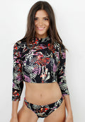 SEA CREATURES CROP TOP RASHGUARD TWO PIECE SWIMWEAR