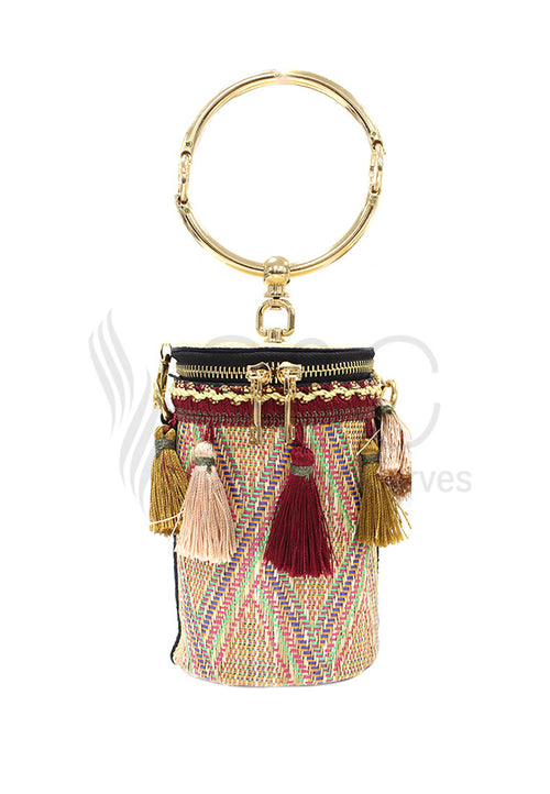 Straw Tassel Beach Bag