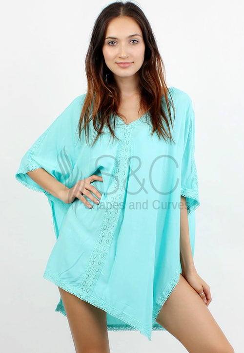 V-NECK CROCHET SWIMSUIT COVER UP DRESS`