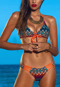 VIVID AZTEC PRINT TWO PIECE SWIMWEAR