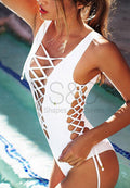 SEDUCTIVE LACE UP ONE PIECE SWIMWEAR