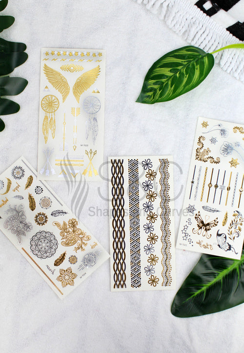 RANDOM METALLIC TATTOO STICKER SET