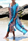 GEOMETRIC BEACH COVER UP DRESS
