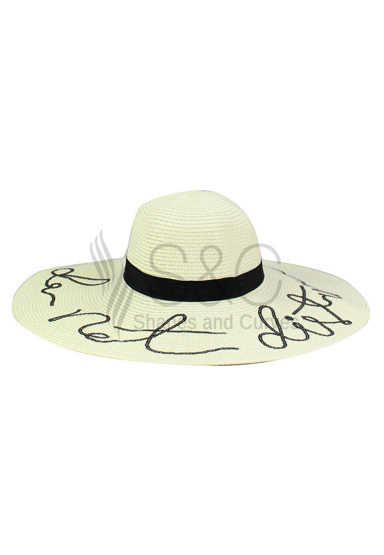 DO NOT DISTURB FLOPPY BEACH SUMMER HAT