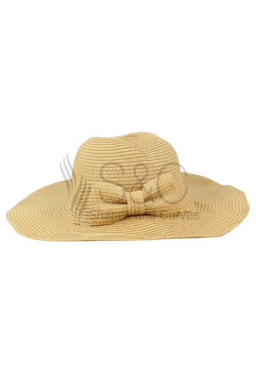 FLOPPY BRIMMED RIBBON BEACH SUMMER HAT