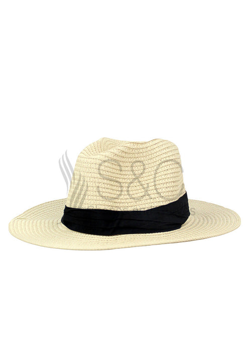 FEDORA STRAW BRAID BEACH SUMMER HAT