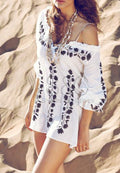 SEXY SWEET HEART EMBROIDERY BEACH COVER UP