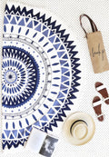 GEOMETRIC LOVE ROUNDIE BEACH TOWEL
