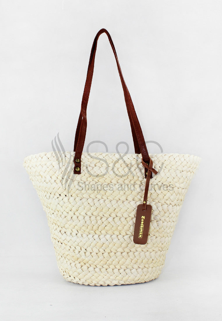 HANDMADE NATIVE ABACA KNIT BRAIDED TOTE BAG