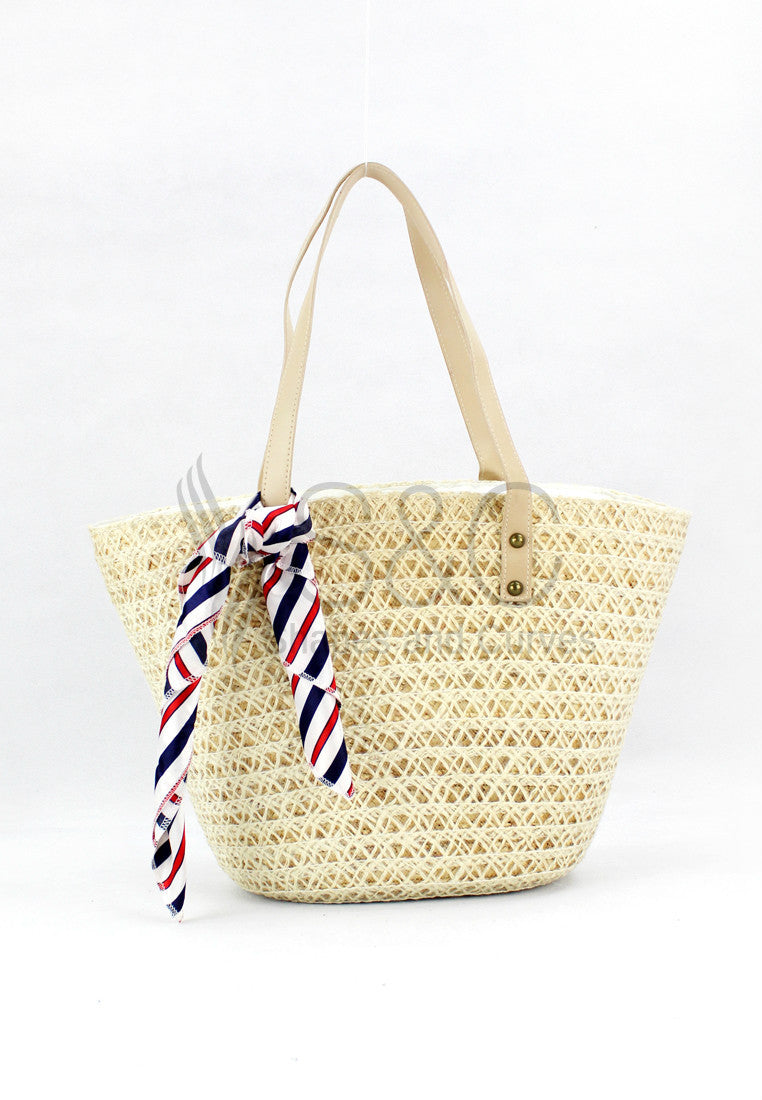 CLASSIC HANDMADE KNITTED ABACA TOTE BAG