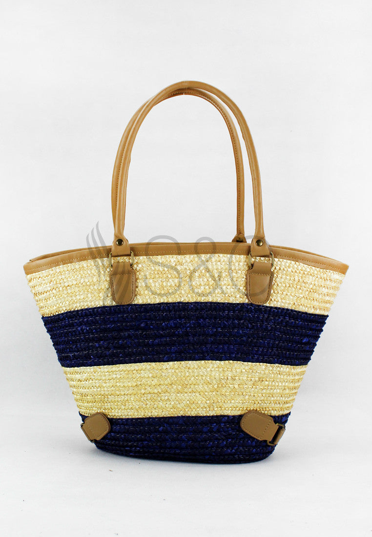 VIBRANT COLOR HANDMADE KNIT KNOT ABACA SHOULDER BAG