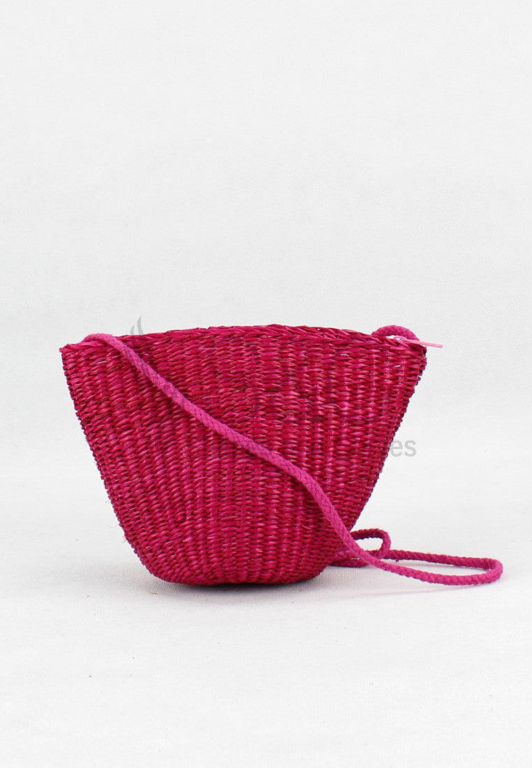 CANDY COLORED HANDMADE KNIT ABACA RUGS SLING BAG
