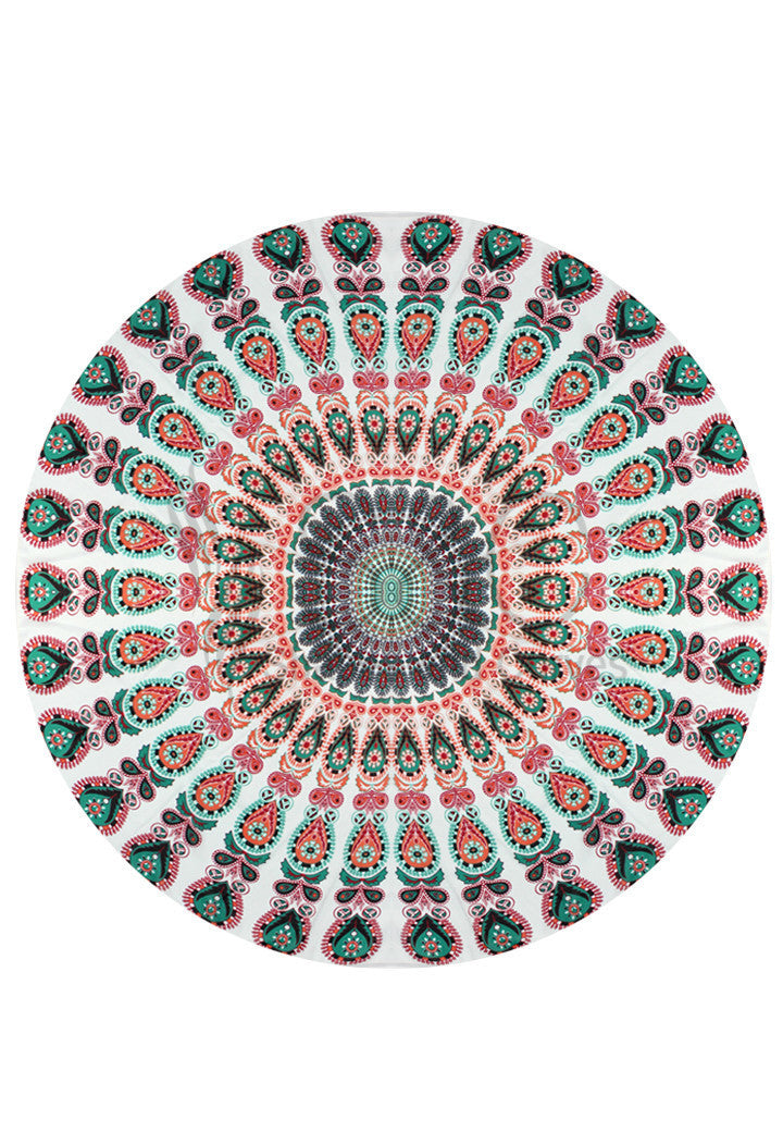 VIVID TRIBAL ROUND BEACH MAT