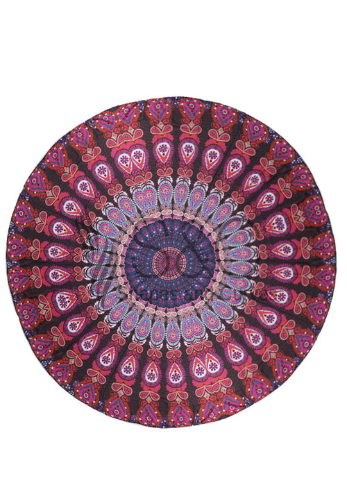 VIBRANT TRIBAL ROUND BEACH MAT
