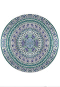 ELEPHANT AND BIRDS FOREST MANDALA BEACH MAT