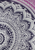 GRADIENT SHADES OF PURPLE MANDALA BEACH MAT