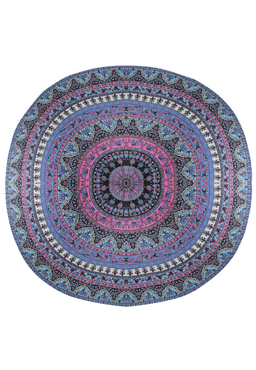 MIDNIGHT IN PARADISE MANDALA BEACH MAT