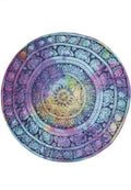 CANDY COLORED BRIGHT ELEPHANT PRINT MANDALA BEACH MAT