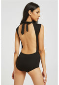 Backless One Piece Swimsuit Swimwear