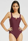 V Collar One Piece Swimsuit Women Swimwear