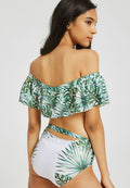 Palm Leaves Push Up One Piece Padded Swimsuit