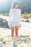 CHIC BOHO BEACH MINI DRESS