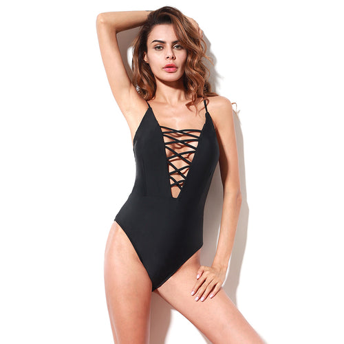 Sexy Lace Up Swimsuit