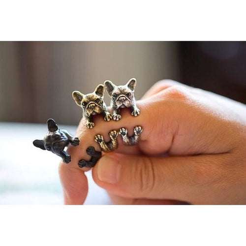 Handmade Frenchie Ring