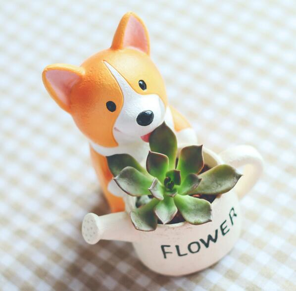 Mini Corgi Flower Pot