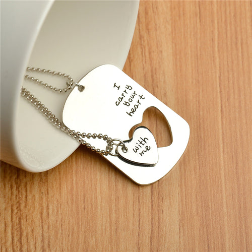 Engraved Couples Necklace